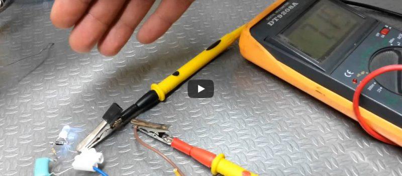 Podłączenie diody LED pod napięcie sieciowe.