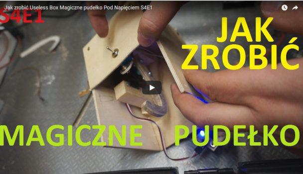 """Jak zrobić magiczne pudełko / bezużyteczne pudełko czyli """"Useless box"""" w pigułce."""