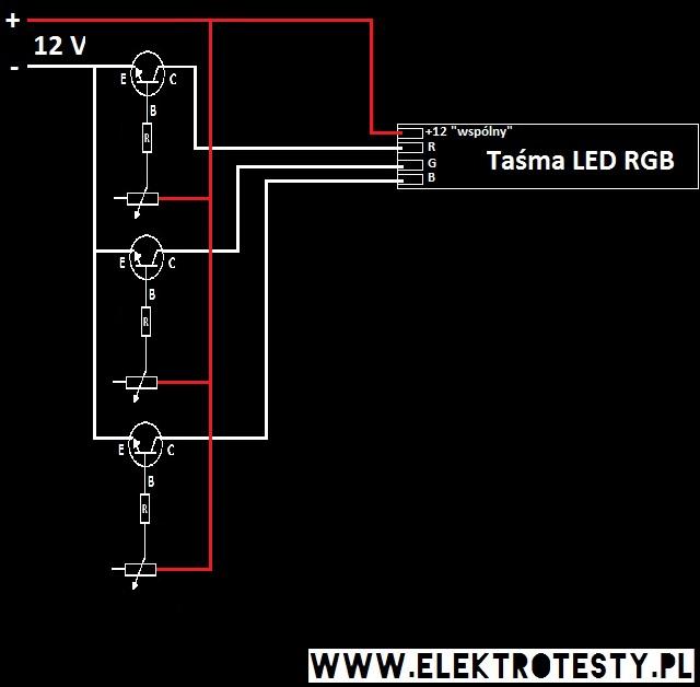 Prosty sterownik listwy LED RGB