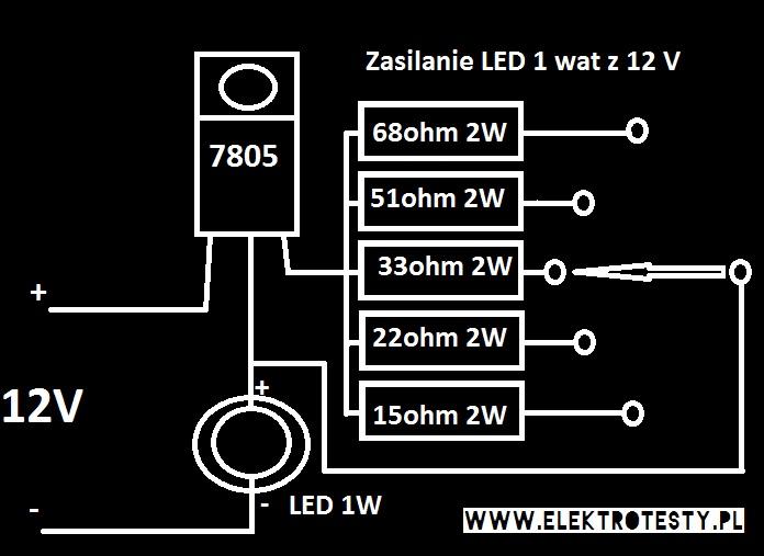 led 1 wat regulowany