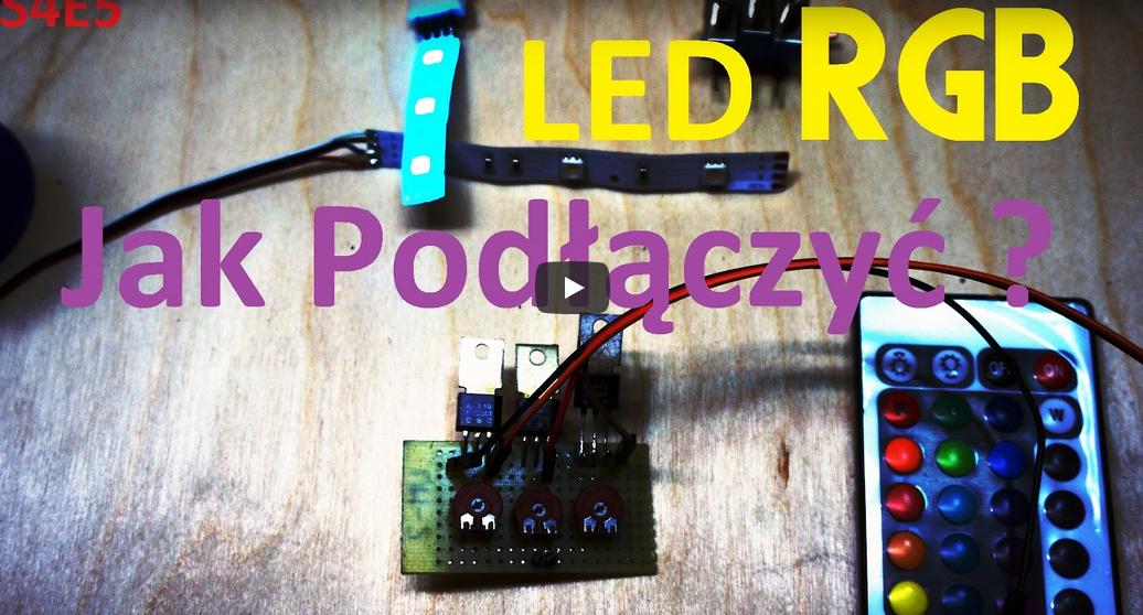 Jak sterować listwą LED RGB.